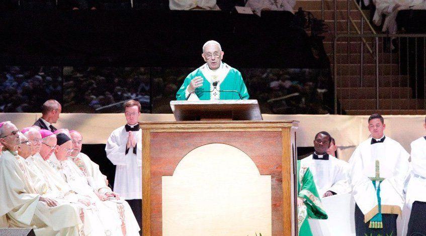 El Papa Francisco pronunció la homilía de la Misa ante miles de personas en el emblemático Madison Square Garden en Nueva York. A continuación el texto completo en español de las palabras del Santo Padre: