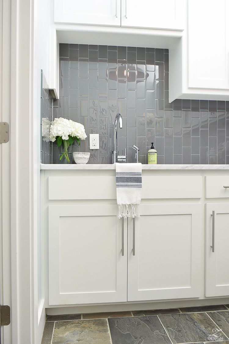 Pretty Functional Laundry Room Details Room Reveal Stainless Kitchen Faucet Laundry Room Laundry Room Sink