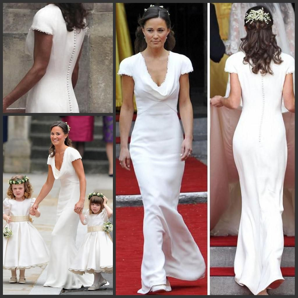 Vintage affordable pippa middleton bridesmaid dress cheap for Wedding dress like pippa middleton