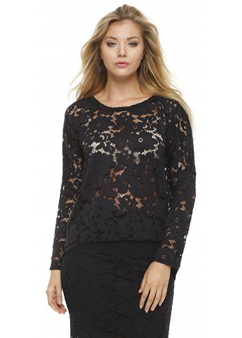 b1fe2cde6d9 A Postcard From Brighton Karma Black Lace Long Sleeved Top | Lace ...