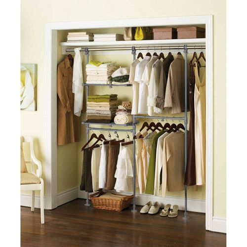 Closet Rods Walmart Mainstays Custom Closet Organizer Kitthis Is What I Need For The