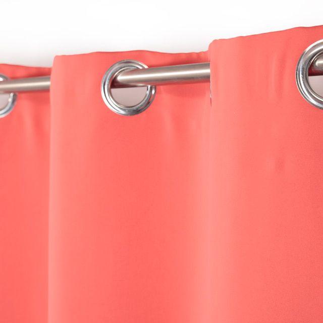 rideau occultant coloris corail vestris 135x250. Black Bedroom Furniture Sets. Home Design Ideas