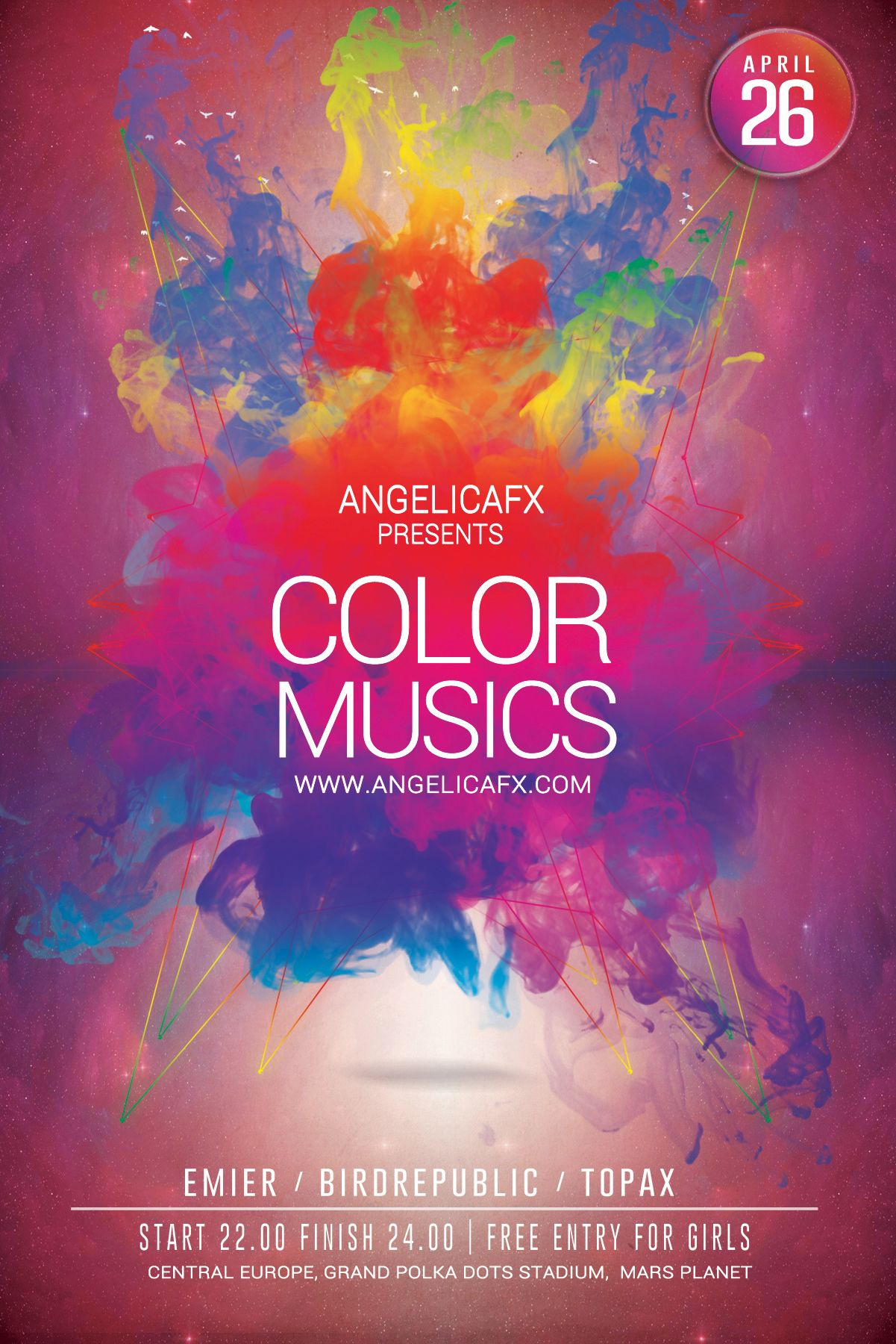color music psd flyer  poster template      graphicriver