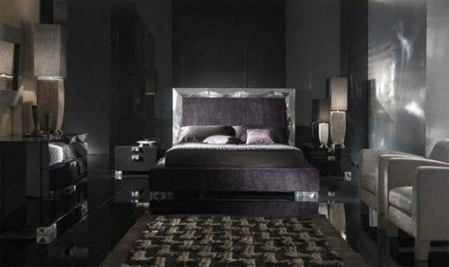 innendesign deko ideen männer auffallend dunkel schlafzimmer ...