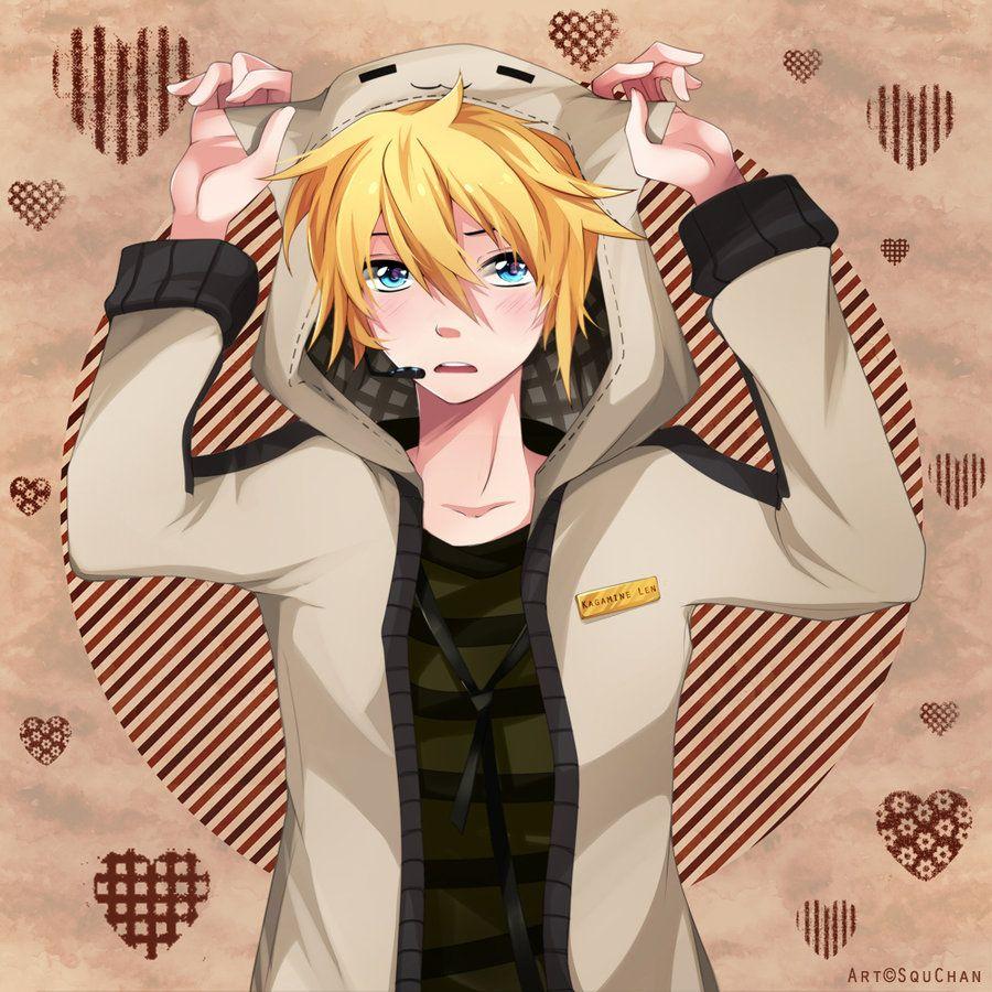 Len Is A Neko New By Squ Chan On Deviantart Blonde Hair Anime Boy Anime Guy Blue Hair Anime Guys Shirtless
