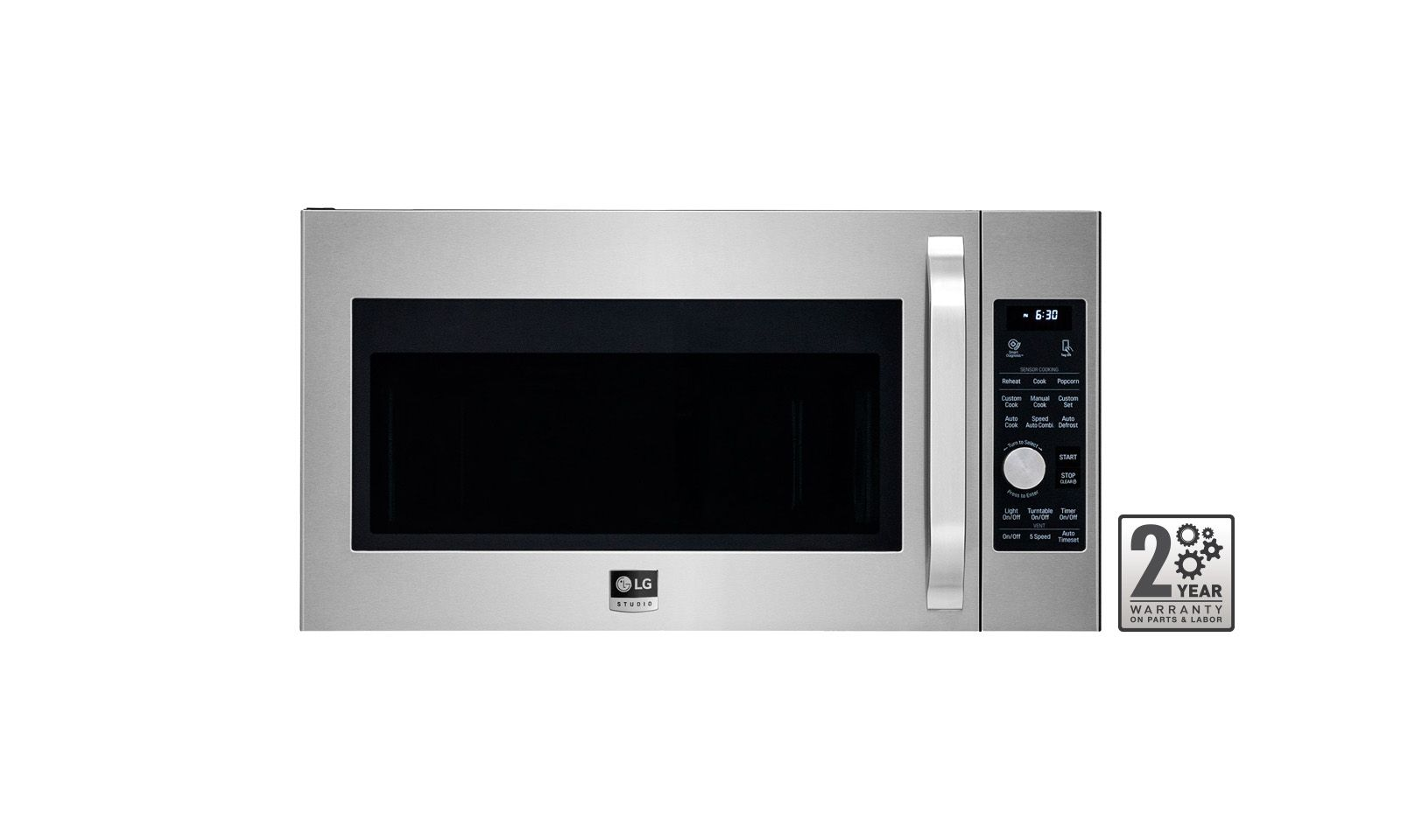 Lg Studio 1 7cuft Over The Range Microwave Oven In Stainless Steel