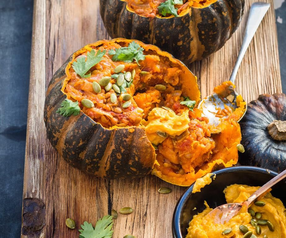 Whole Roasted Buttercup Squash Recipe With Images Spiced Lentils Dairy Free Dinner Squash Recipes