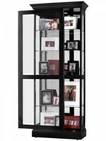 Howard Miller Contemporary Black Curio Cabinet 680477 Berends