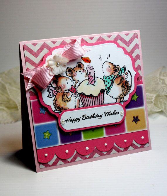 Birthday card handmade birthday greeting card 3d by cardinspired birthday card handmade birthday greeting card 3d card 525 x 525happy birthday wishes penny black girl stationery celebrate ooak m4hsunfo