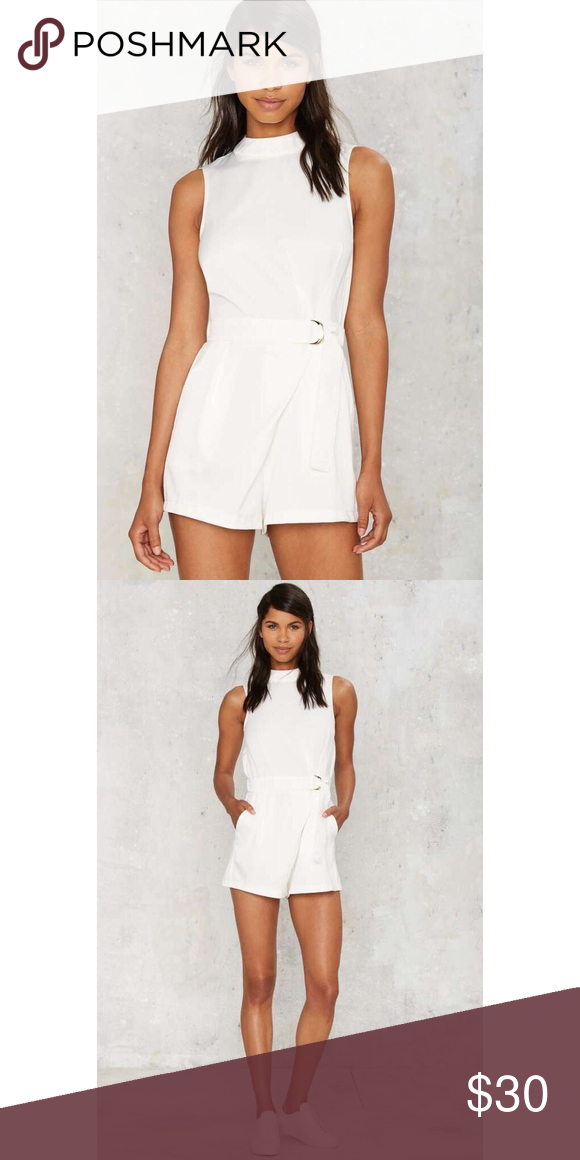 d4de4670332 Glamorous Susana Mock Neck Romper Worn once✨ runs small✨ it was a little  too tight on my neck. Lmk is you want more pics💕 Nasty Gal Other