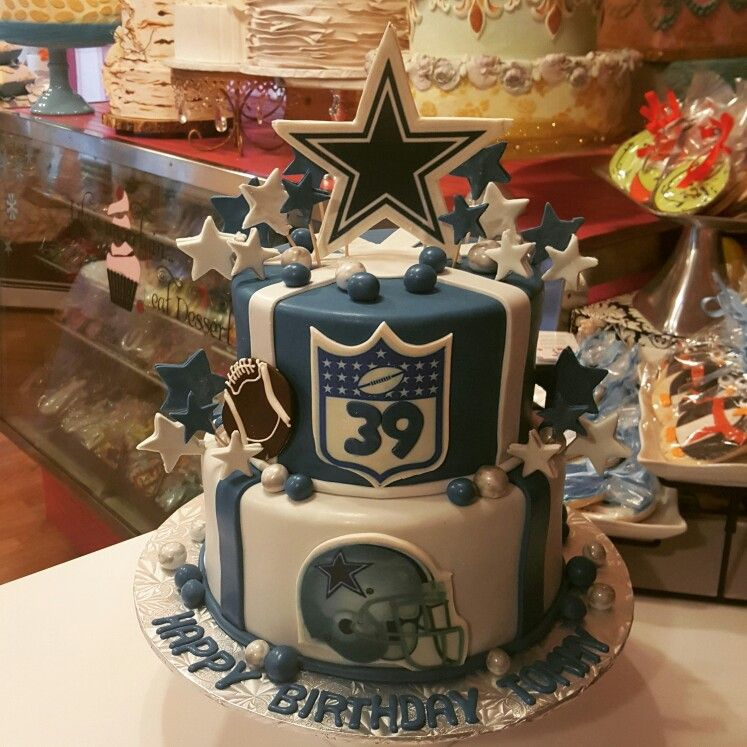 Dallas Cowboys Themed Birthday Cake Wwwfacebook Carinaedolce