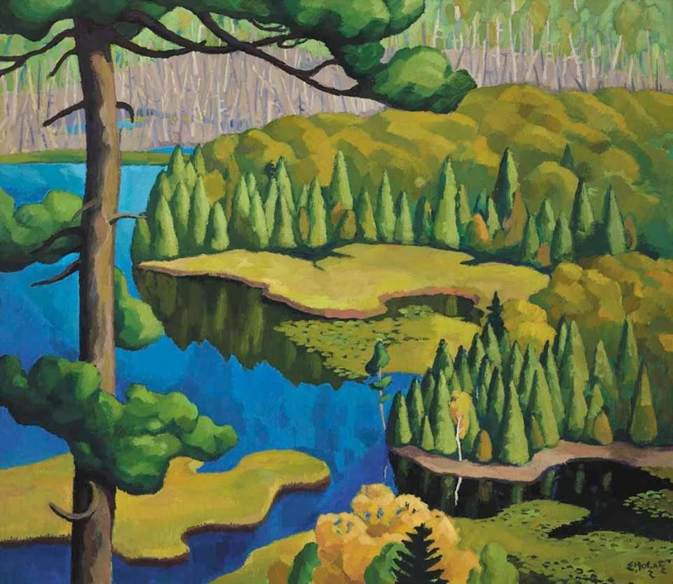 Edwin holgate lake and woods canadian art art art