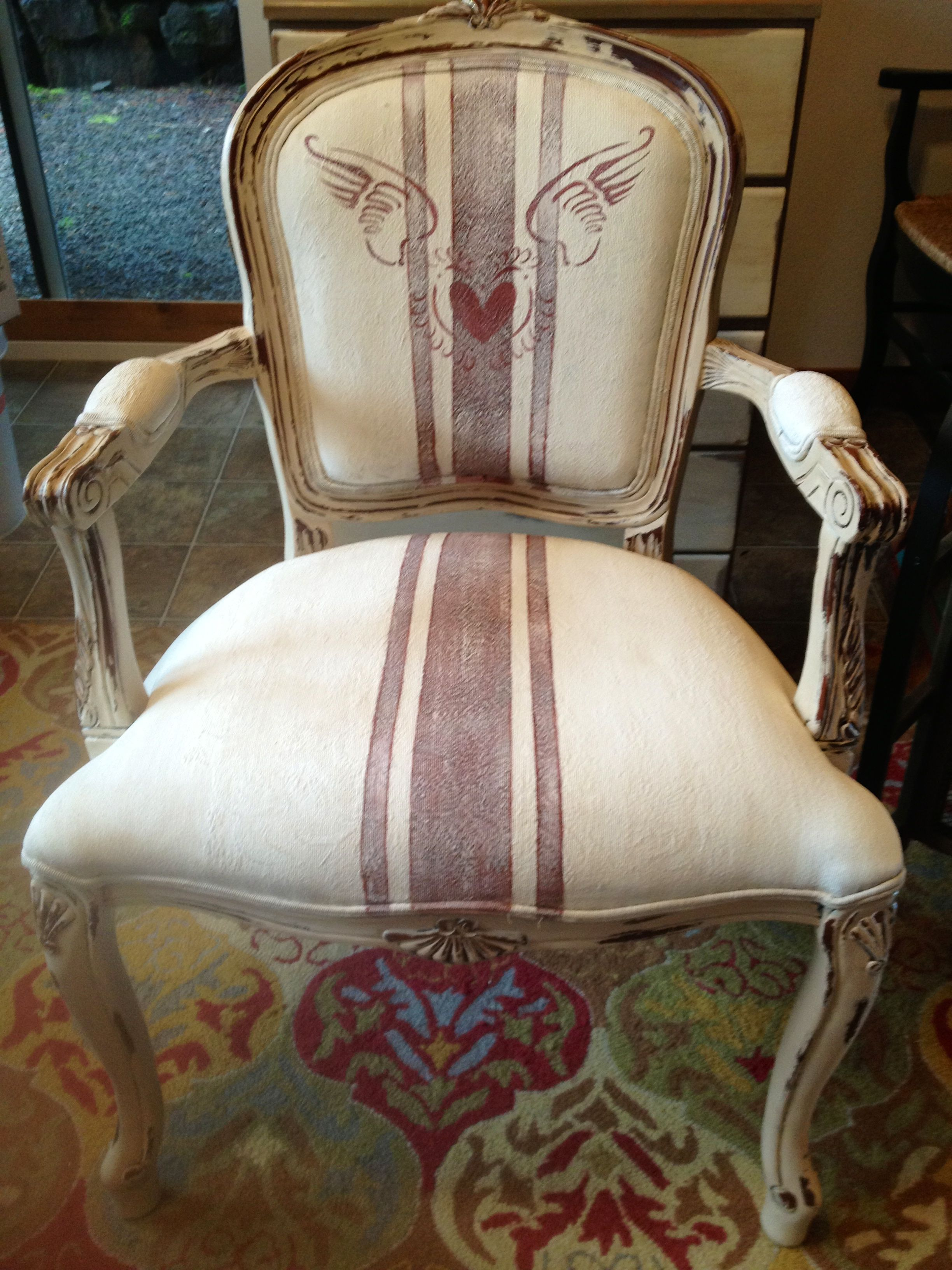 Painted french chair by Jen Brooks - it was dark wood with ...
