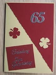 Einladungen Zum 65 Geburtstag Google Suche Geburtstag Karte