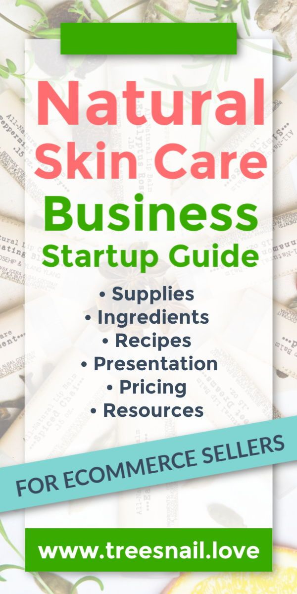 Natural Skin Care Business Startup Guide Resources To Build Your