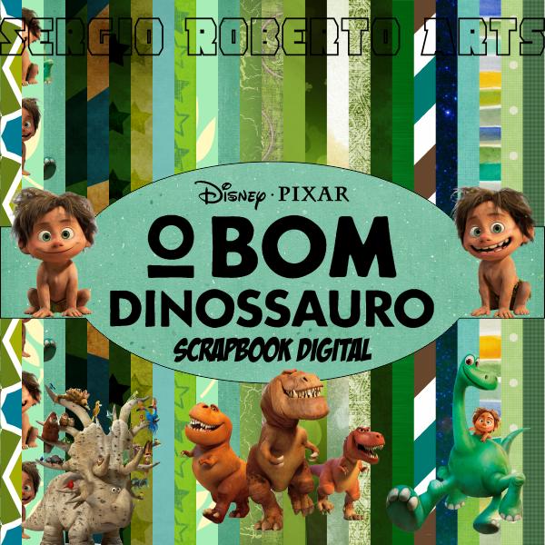 Scrapbook Digital O Bom Dinossauro Disney Elementos Imagens em Alta Resolução Papeis Digitais 3600px 300dpi Excelente para Criação de Personalizados para festa eventos convites aniversario
