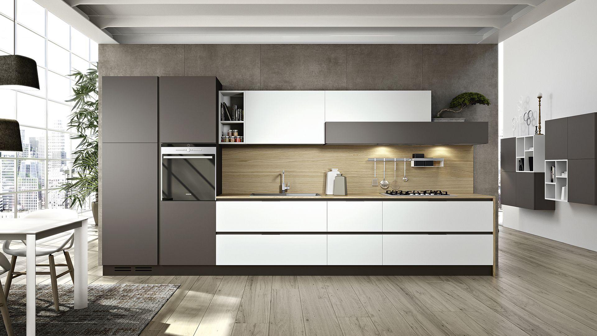 cucina lineare moderna | Móveis Sob Medida | Pinterest | Kitchen ...