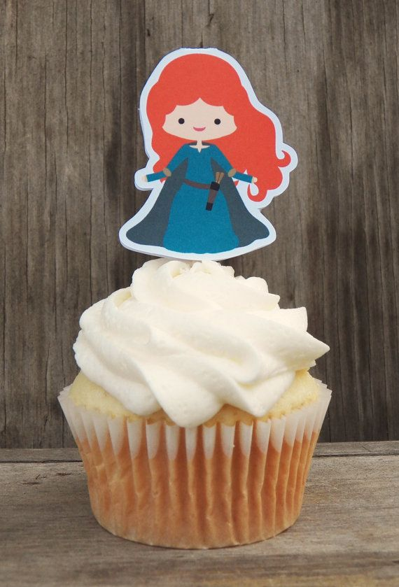 Brave Princess Party  Set of 12 Merida Cupcake by TheBirthdayHouse, $6.00