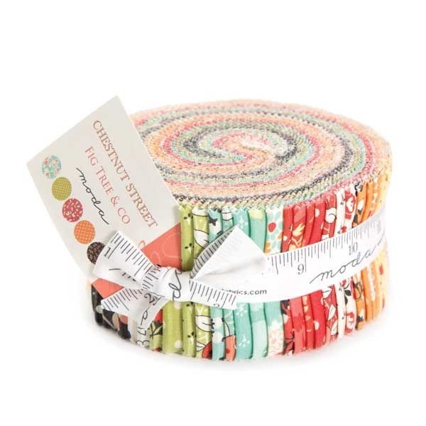 Moda Fabrics Fig Tree Company Chestnut Street Floral Honey Bun ... : honey bun quilting strips - Adamdwight.com