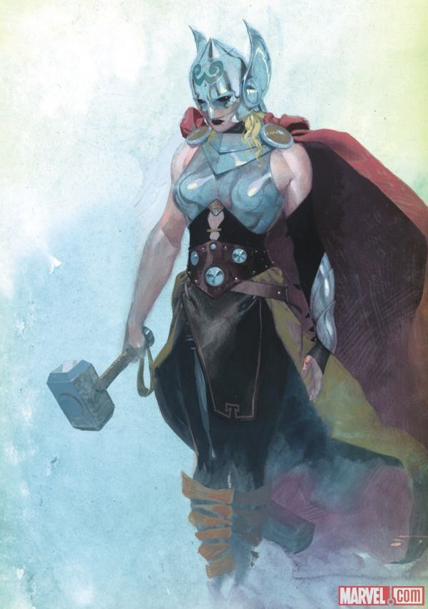 Marvel's New Hero Is A Female Version Of Thor - DesignTAXI.com