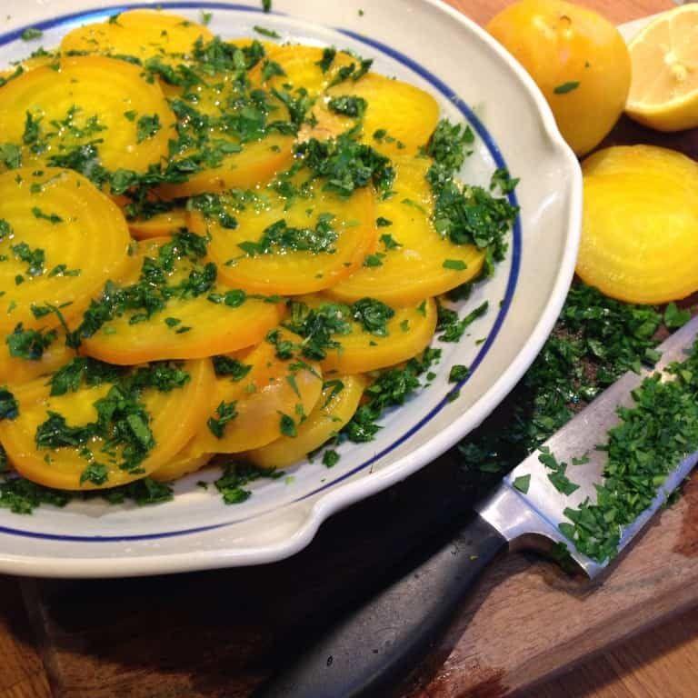 Yellow Beet Salad With Lemon And Parsley Yellow Beets Fresh Lemon Juice Zest Fresh Italian Parsley Olive Oil M Beet Salad Yellow Beets Turmeric Benefits