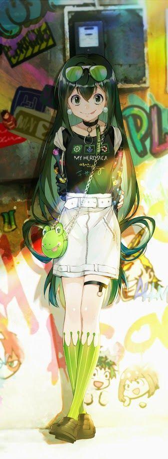 Photo of Tsuyu Asui-Kyoka Jiro-Mein Held Academia # Fanart # Manga # Anime # Animegir …