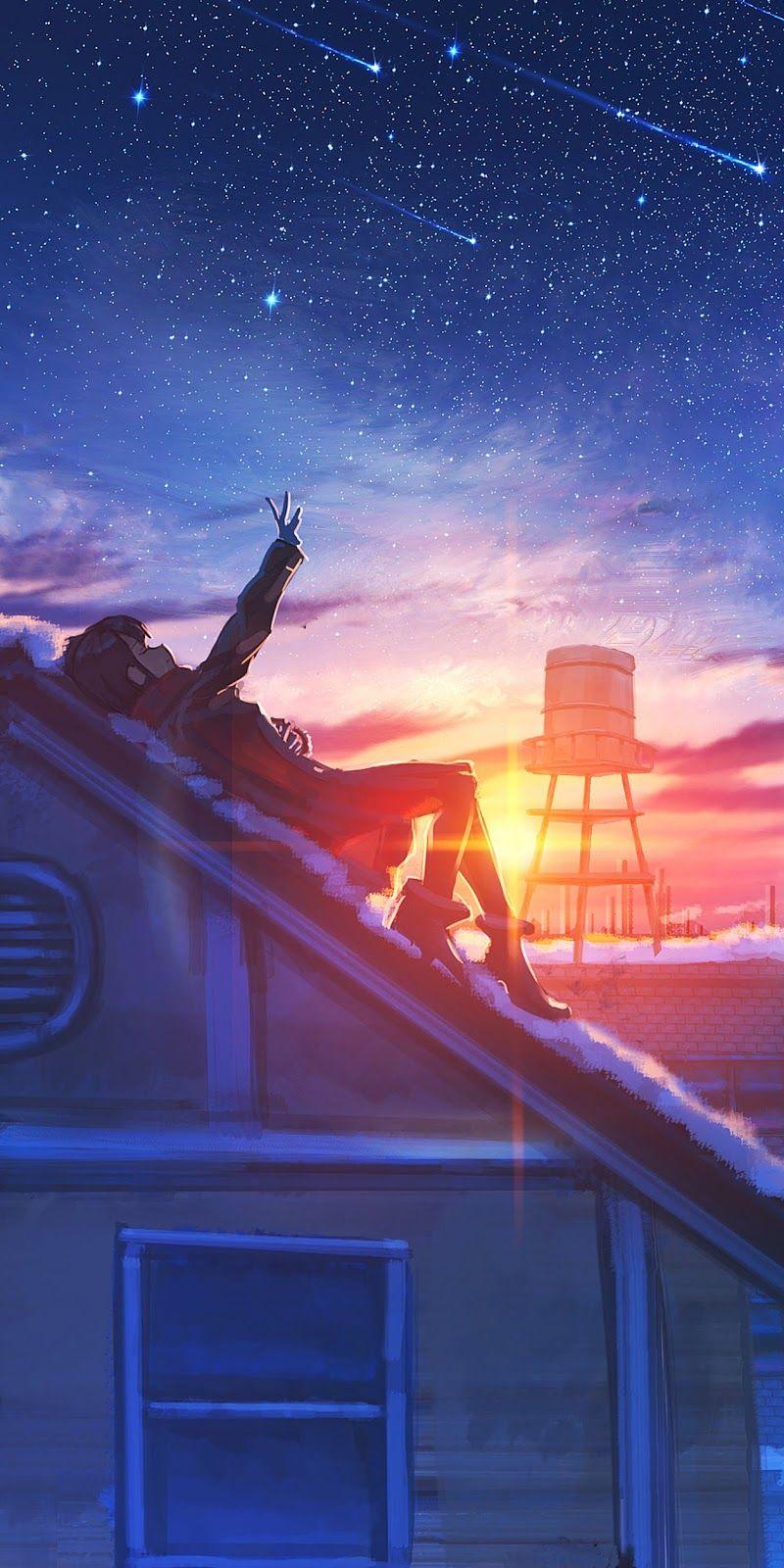 Watching The Sunset Anime Scenery Wallpaper Disney Art Of Animation Art Of Animation Resort