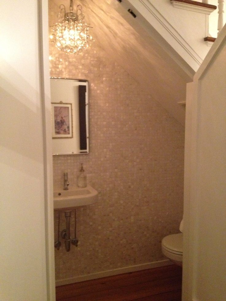 Lighting Basement Washroom Stairs: Image Result For Stairs Powder Room Tiny