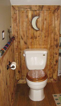 Side Wall Add Shelves Je Outhouse Decor Outhouse Bathroom Bathroom Styling