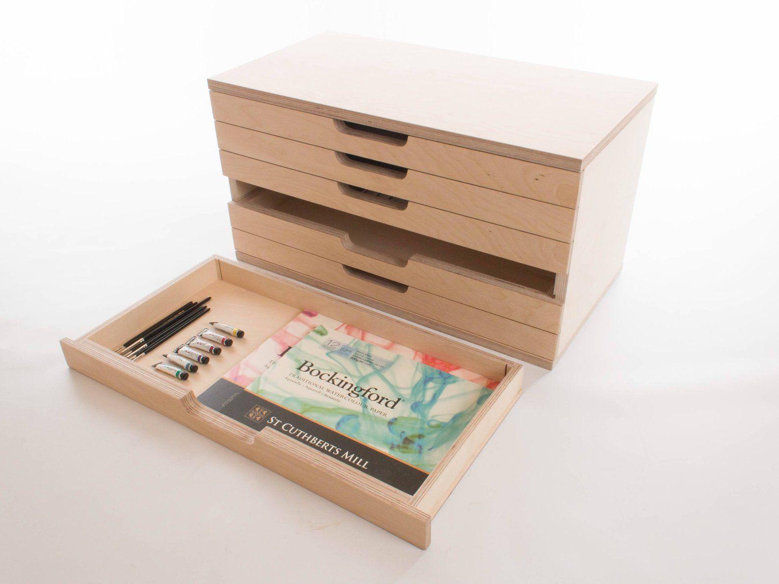 Art Box 6 Drawers Birch Plywood Craft Tool Painting Etsy Craft Tool Storage Box Art Craft Tools