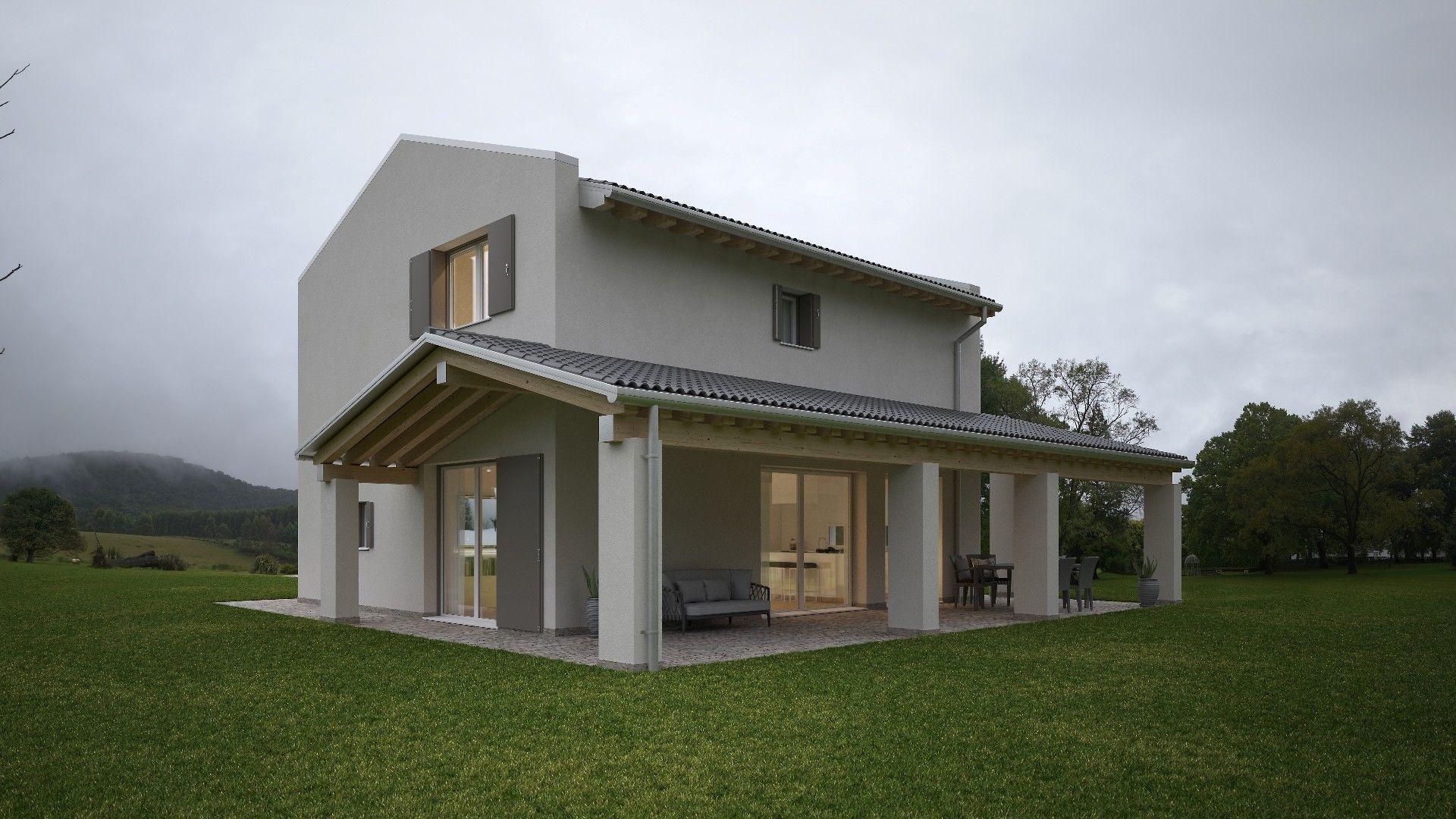 Case A Due Piani casa in legno moderna a due piani | case di legno, design