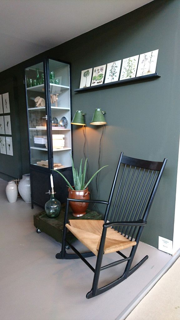 vtwonen beurs groene muur  woonkamer  Woonkamer groen