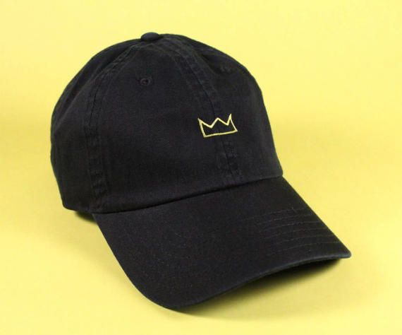Gold Crown Baseball Hat Dad Hat Low Profile White Pink Black Casquette  Embroidered Unisex Adjustable 549de071b49
