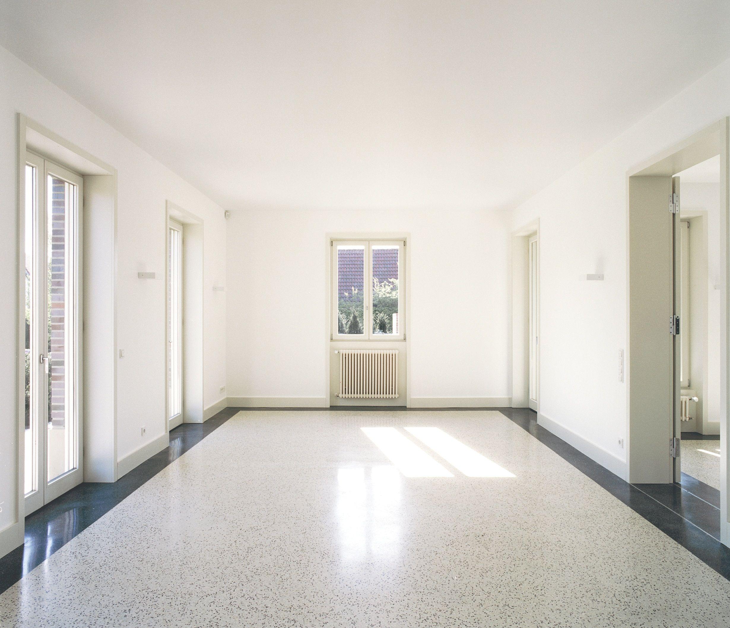Terazzo Boden ein terrazzoboden im wohnzimmerbereich projekt in hamburg