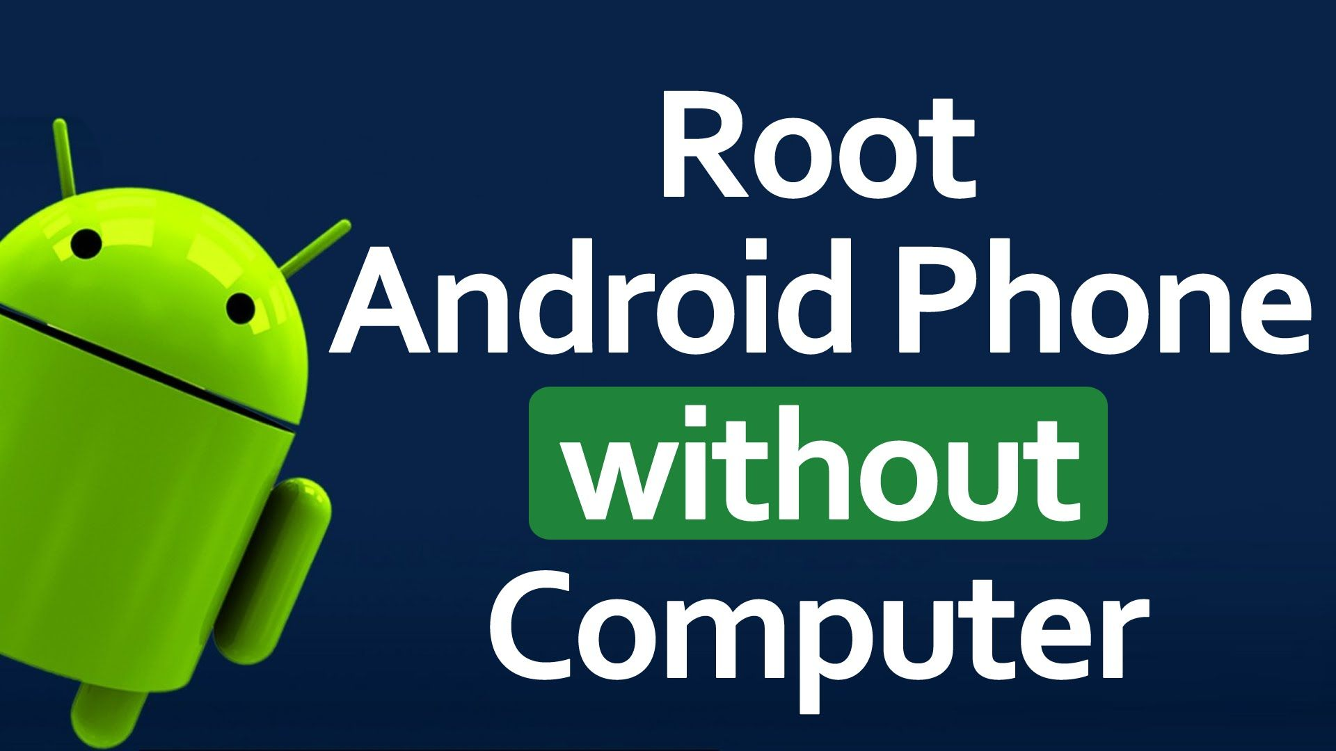 android root application without pc