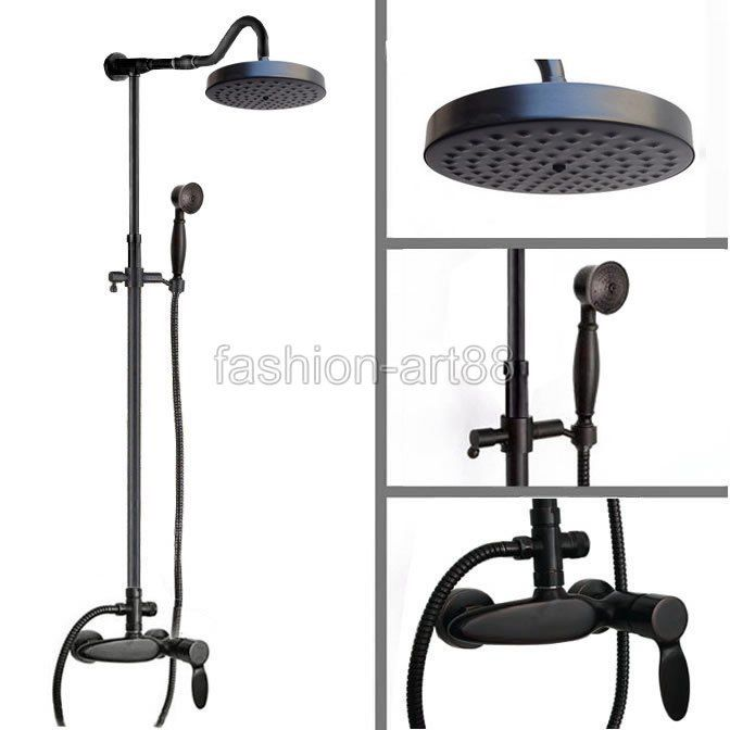 Wonderful Retro Black Oil Rubbed Bronze Bathroom Exposed Shower Faucets  Throughout Oil Bronze Bathroom Faucet Ordinary