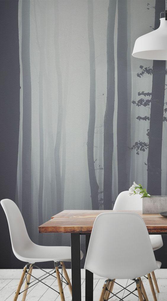 Schon Dieses Auffallende Wald Wallpaper Fängt Eine Bezaubernde Waldszene Im  Herzen Eines Transylvanian Waldes. Die Trübe