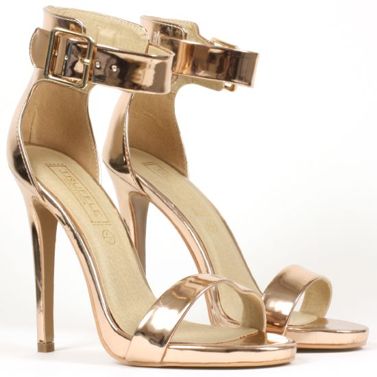 2074e6d938bd Korkys  Rose Gold Strappy Heel - RITA1 GOLD