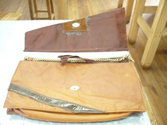 Restauración de forro cartera vintage tipo clutch