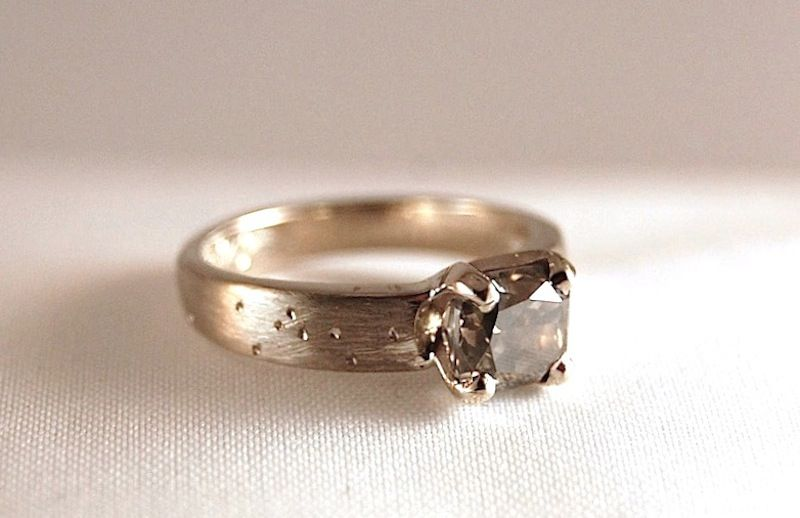 Custom Engagement Ring By Poppy Metals
