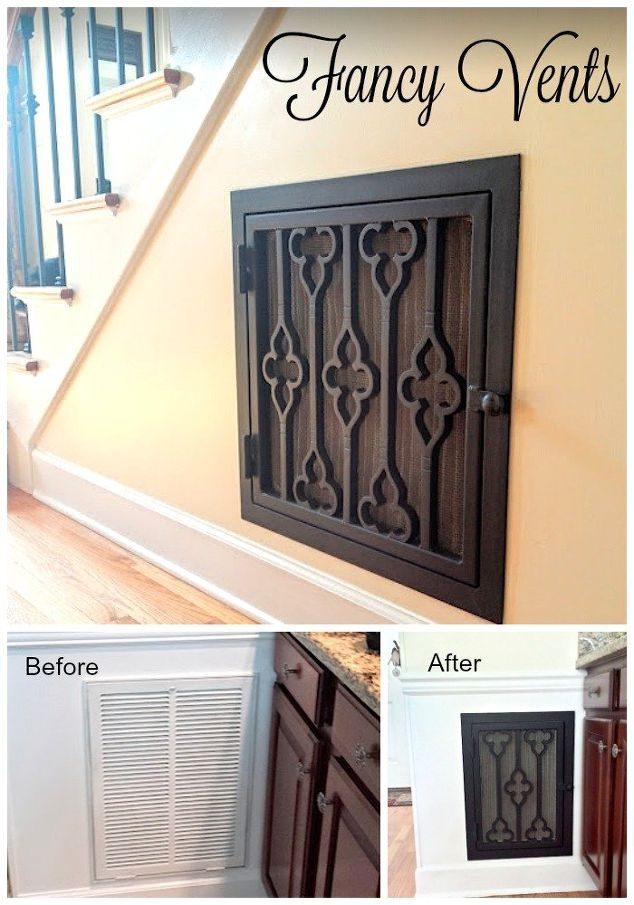 adding character with decorative vent covers, home decor, home improvement, hvac, kitchen design
