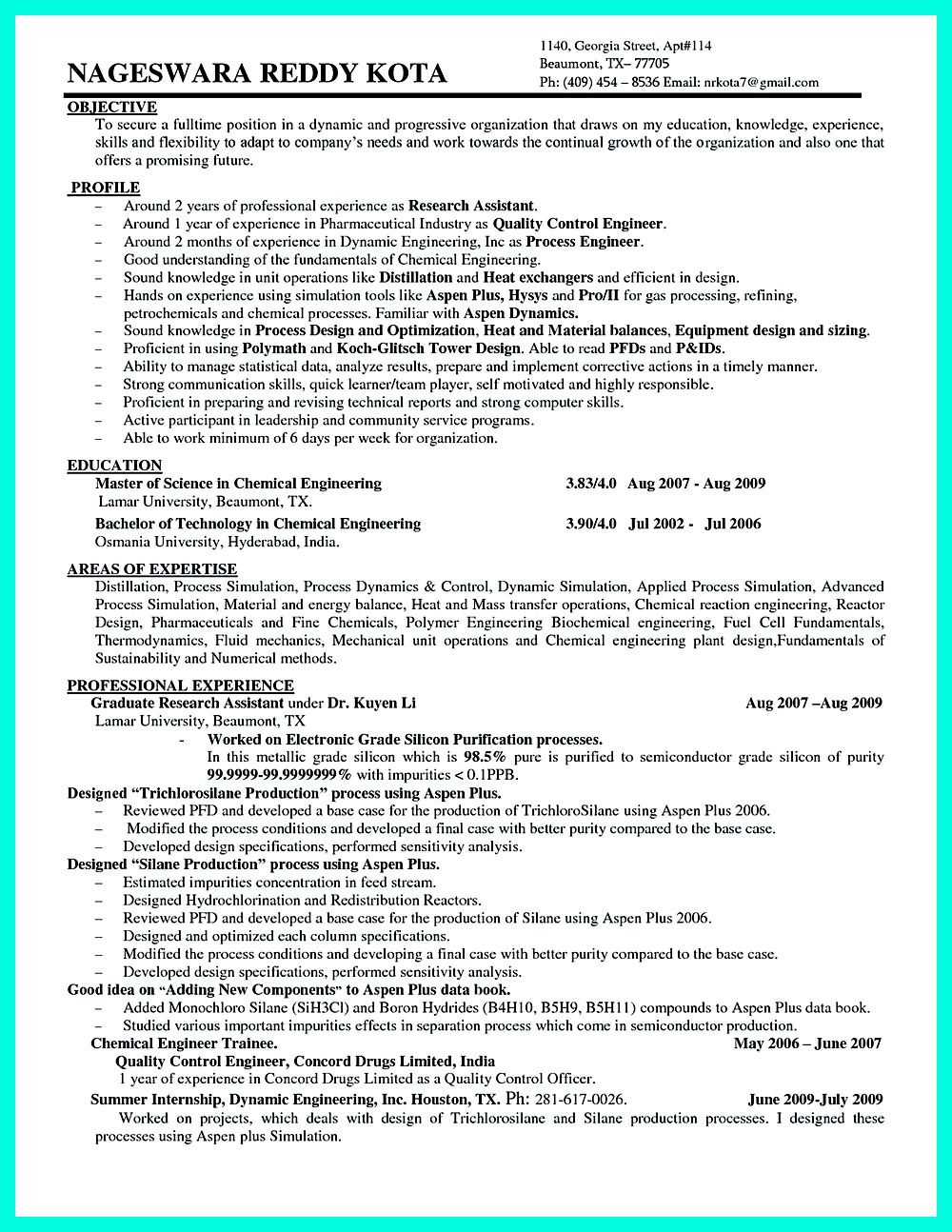 objectives of the job are very important you need to mention some  also you need to mention some necessary objectives when writing chemicalengineering resume one example is writi chemical process engineer resumesample and