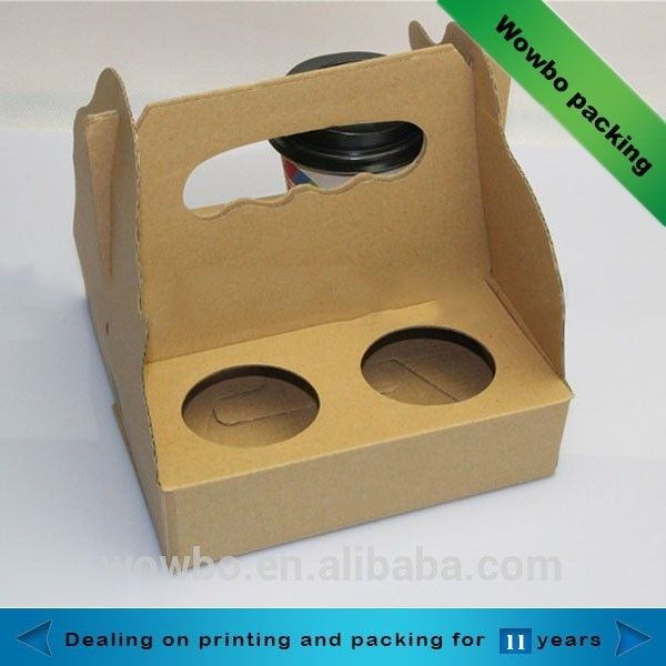 Source hot sale corrugated 4 pack coffee carrier cup holder on m.alibaba.com
