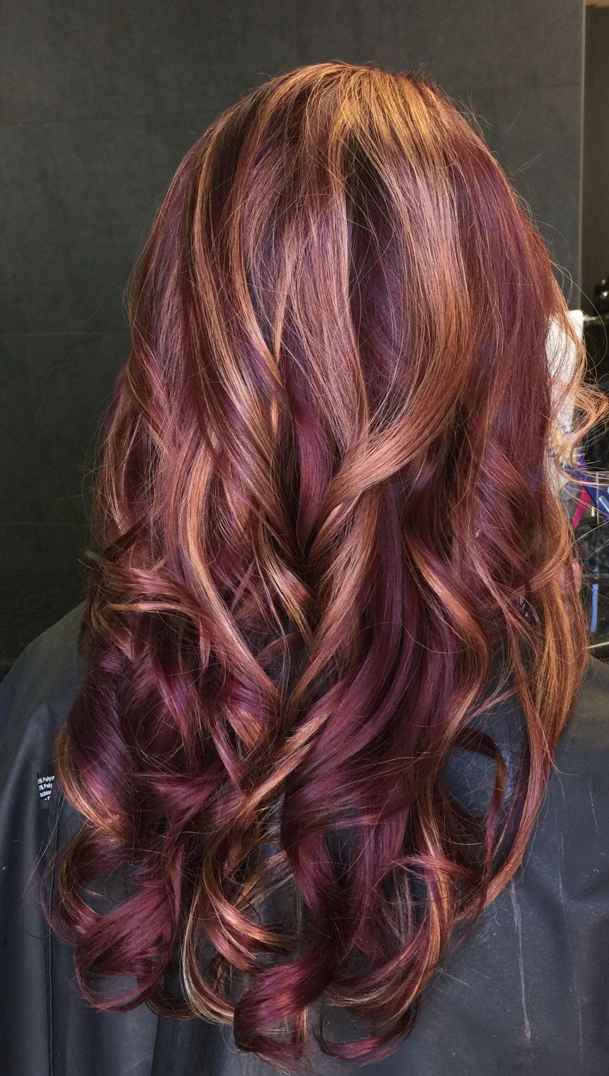 Love my beautiful new hair color purpleviolet hair dark purple
