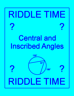 Circles - Central and Inscribed Angles RIDDLE | Homework, Worksheets ...
