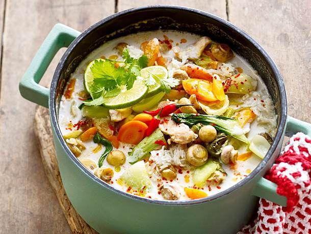 Hühnersuppe Tom Kha Gai Rezept | LECKER #thaifoodrecipes