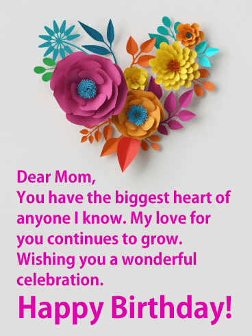 This Birthday Card For Your Mom Is Sent With Lots Of Love Sweet