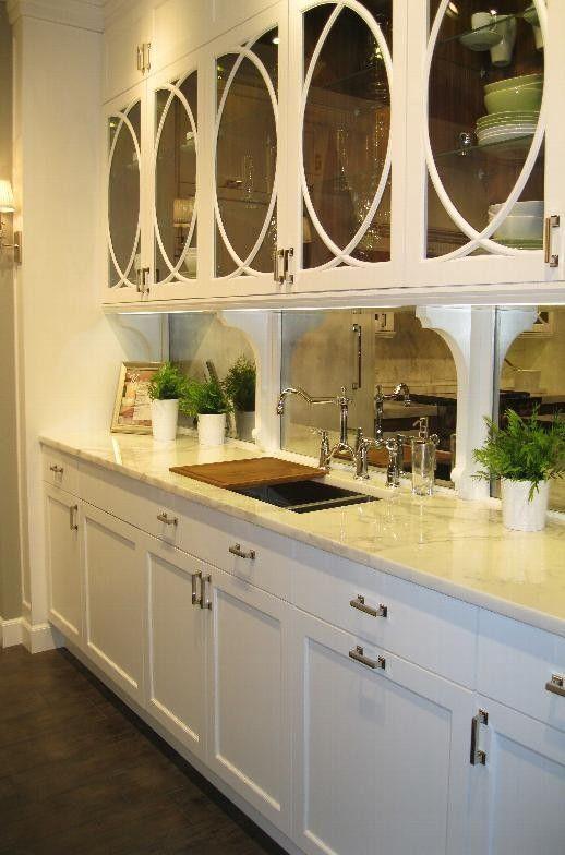 Antiqued Mirror Splash Back Love Backsplash Home Kitchen Redo Mirroring And Paraphrasing