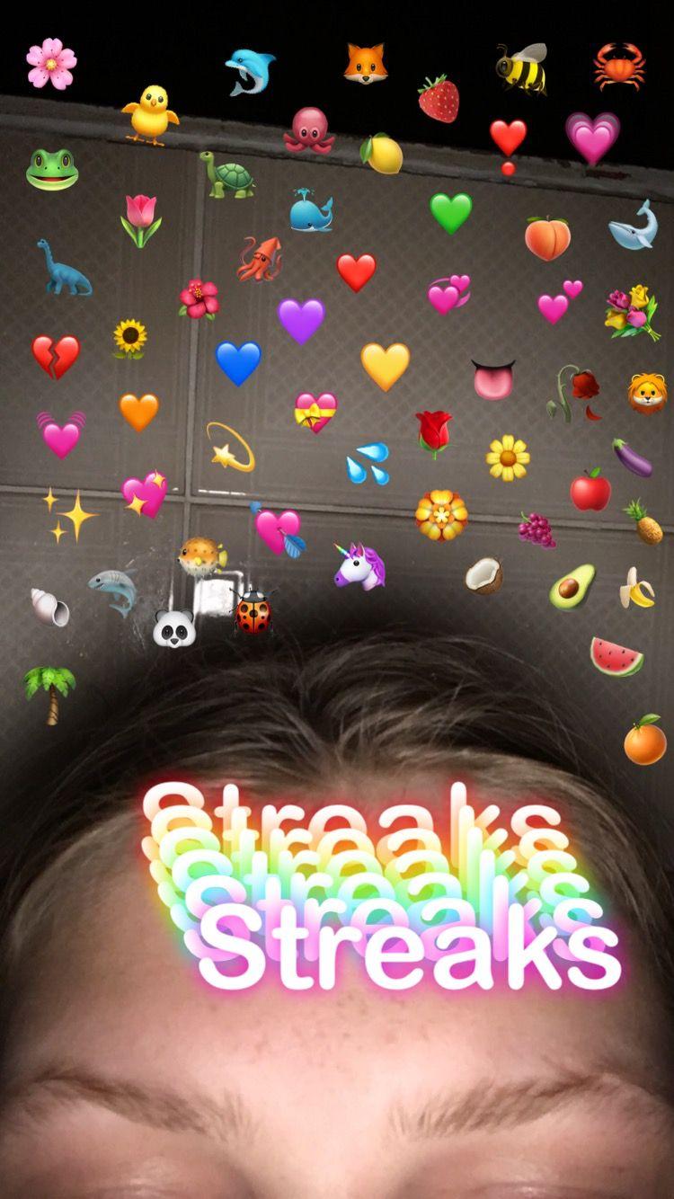 Aesthetic Emojis Emoji Emojiaesthetic Streaks Snapchat With