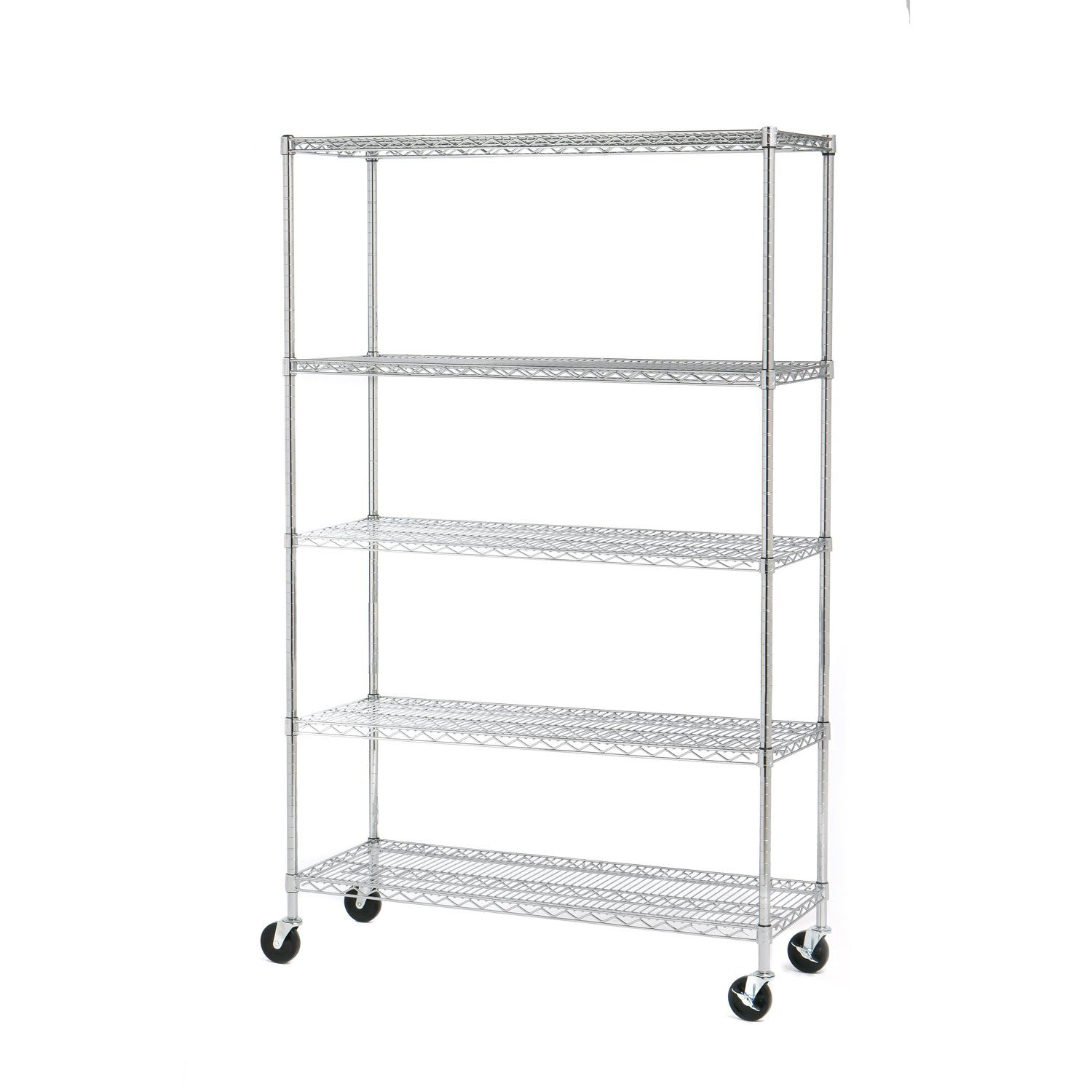 Seville Classics 5-Tier UltraZinc NSF Steel Wire Shelving /w Wheels ...
